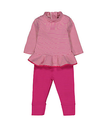 Mothercare Pink Striped Sunsafe Set