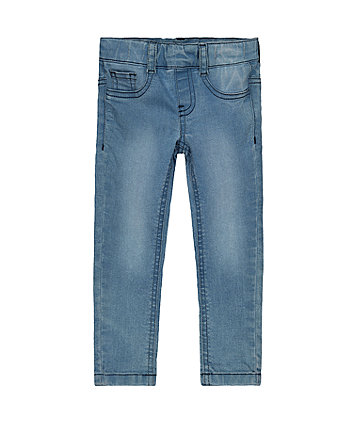 Light-Wash Denim-Look Jeggings