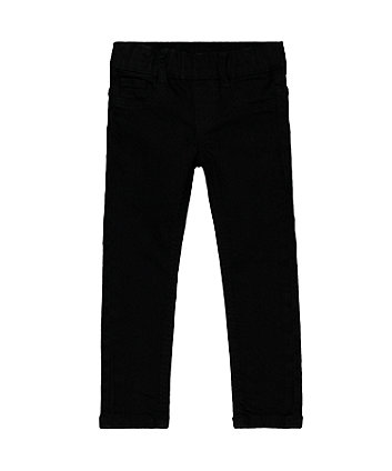 Black Denim-Look Jeggings