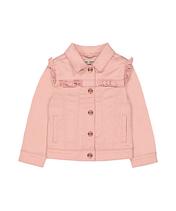 Pink Denim Frill Jacket