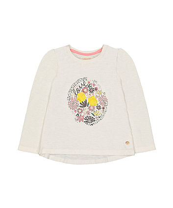 Mothercare Flower And Bead T-Shirt