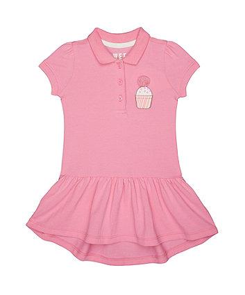 Pink Cupcake Pique Polo Dress