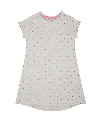 Mothercare Grey, Pink Spot Trapeze Dress