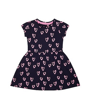 Navy Heart Dress