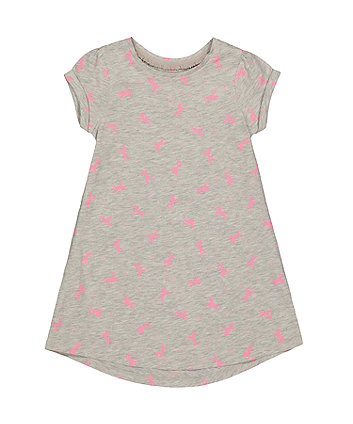 Mothercare Grey Neon Horse Trapeze Dress