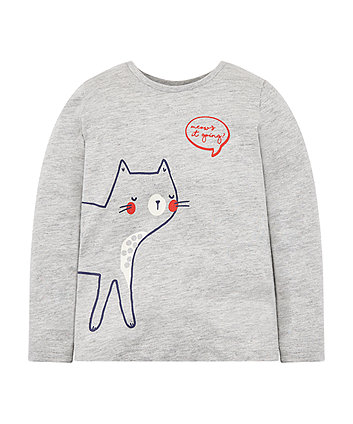 Meow Cat Grey T-Shirt