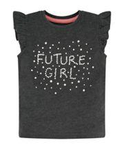 Future Girl Grey Frill T-Shirt