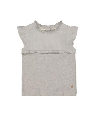 Mothercare Good Vibes Grey Pleat Sleeveless T-Shirt