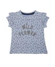 Mothercare Blue Floral T-Shirt