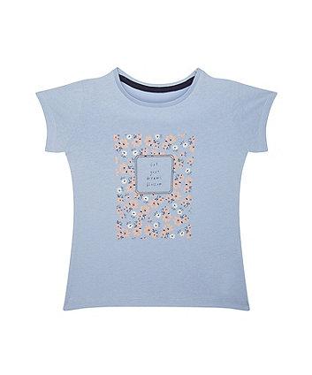 Dreams Blossom Floral Blue T-Shirt