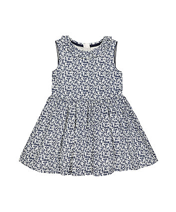 Mothercare Floral Blue Skater Dress