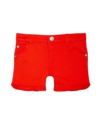 Mothercare Coral Frilled Hem Shorts