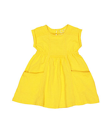 Yellow Trim Dress