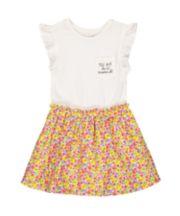 Flower And Glitter Twofer Dress