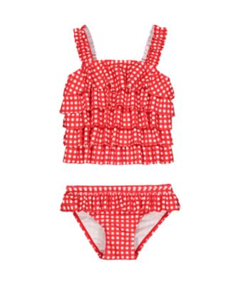 Mothercare Red Gingham Frill Tankini
