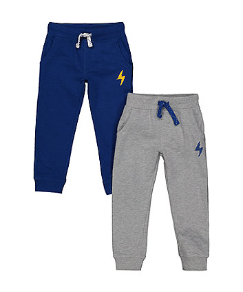 Mothercare Blue And Grey Joggers