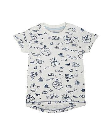 Mothercare White Sailing T-Shirt