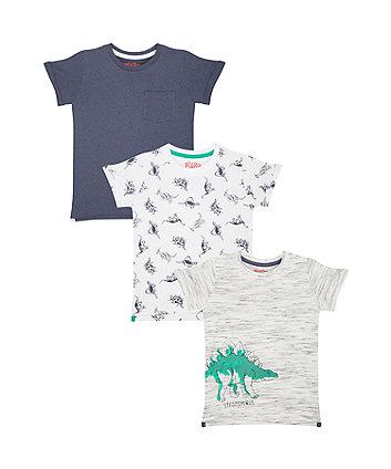 Mothercare Dinosaur T-Shirts – 3 Pack
