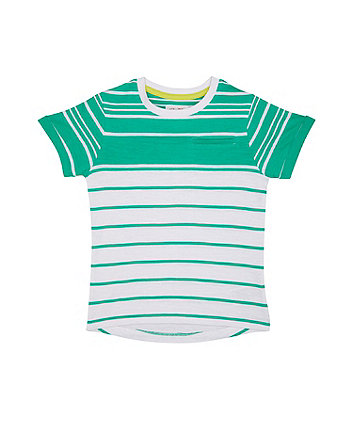 Mothercare Green And White Stripe T-Shirt