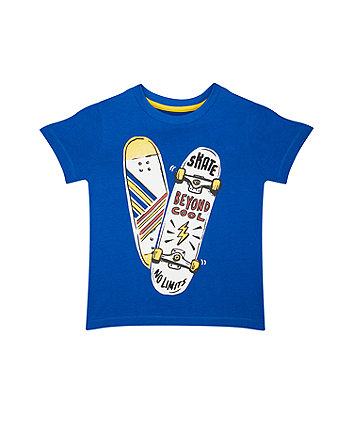 Mothercare Blue Skateboard T-Shirt