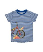 Mothercare Striped Bike T-Shirt