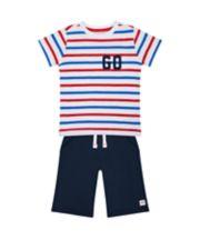 Striped T-Shirt And Shorts Set
