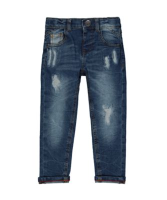 Mothercare Denim Mid-Wash Rip And Repair Jeans