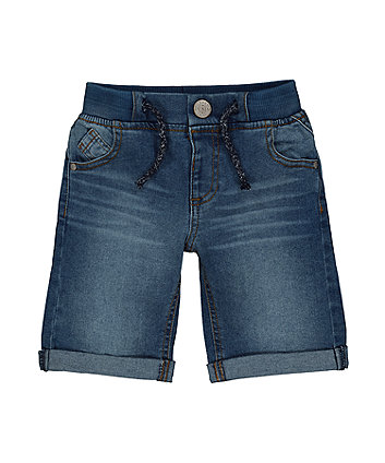 Mothercare Dark-Wash Denim Shorts