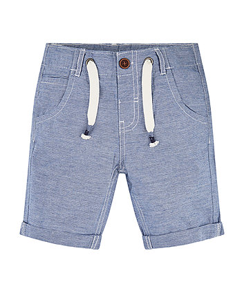 Mothercare Chambray Striped Shorts