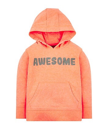 Mothercare Orange Awesome Hooded Sweat Top