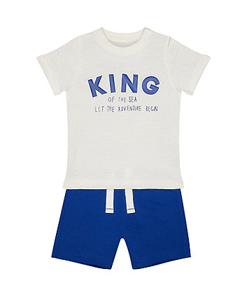 Mothercare King Of The Sea T-Shirt And Shorts Set
