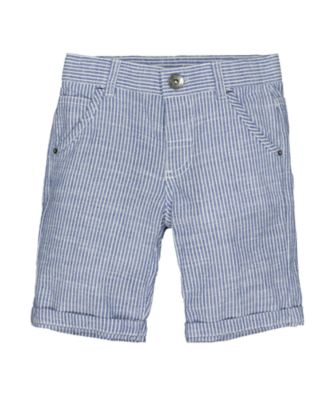Mothercare Boat House Blue Texture Stripe Shorts