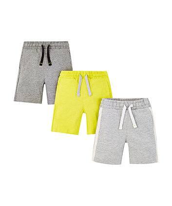 Mothercare Grey And Green Shorts – 3 Pack