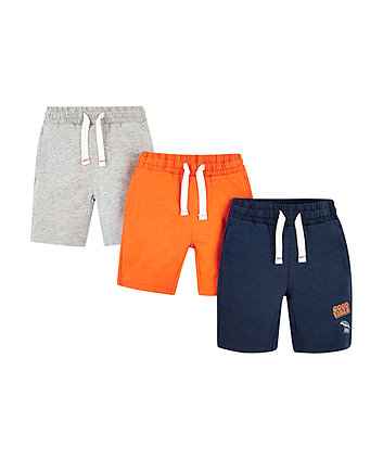 Mothercare Navy And Orange Shorts - 2 Pack