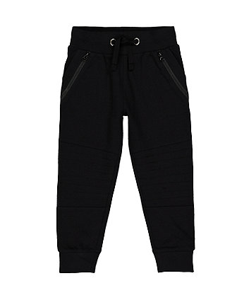 Mothercare Black Zip Joggers