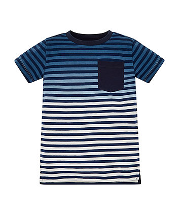 Mothercare Blue Ombre Stripe T-Shirt