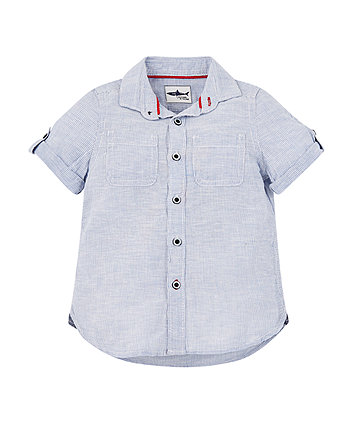 Mothercare Blue Striped Shirt