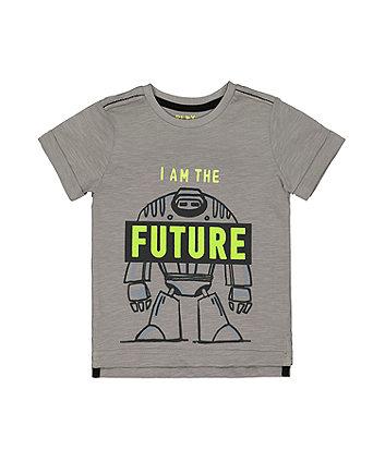 Mothercare Grey Future Robot T-Shirt