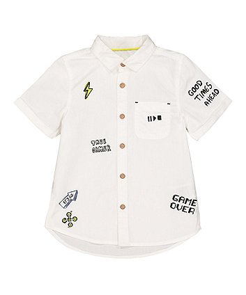 Mothercare White True Gamer Shirt