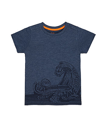 Mothercare Navy Wave T-Shirt