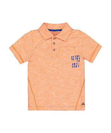 Mothercare Orange Awesome Polo T-Shirt