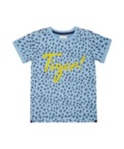 Mothercare Blue Tiger And Leopard T-Shirt