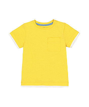 Mothercare Yellow Mock Layer T-Shirt