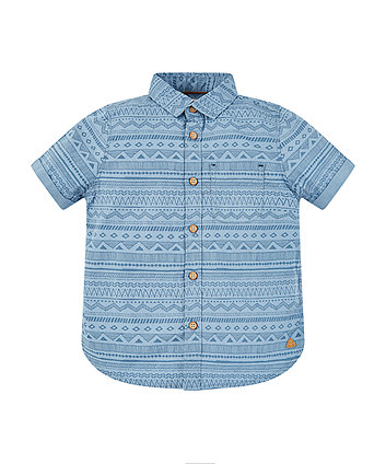 Mothercare Blue Aztec Print Shirt