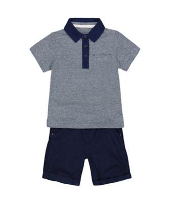 Mothercare Boat House Polo Short Sleeve Shirt And Shorts Set