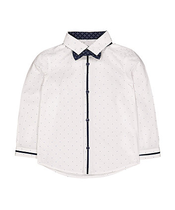 Mothercare Spot Shirt And Bow Tie Set
