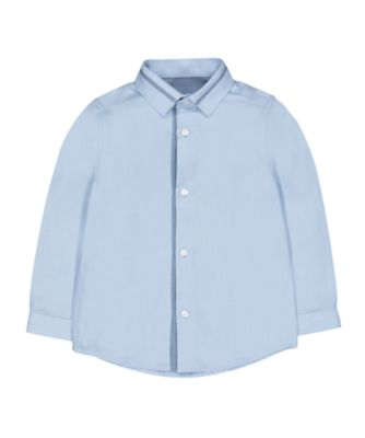 Mothercare Special Collection Blue Twill Long Sleeve Shirt