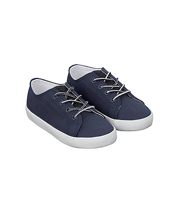 Mothercare Navy Lace-Up Shoes