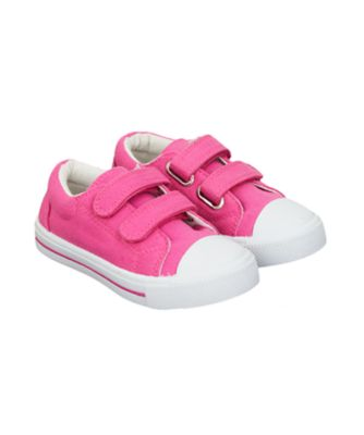Mothercare Plain Hot Pink Double Velcro Trainers