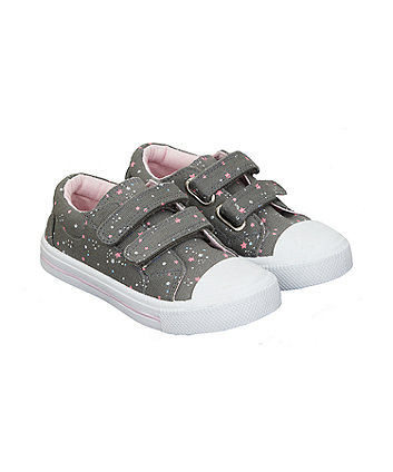 Mothercare Star Grey Trainers